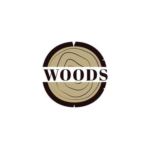 Logo del ceppo di legno