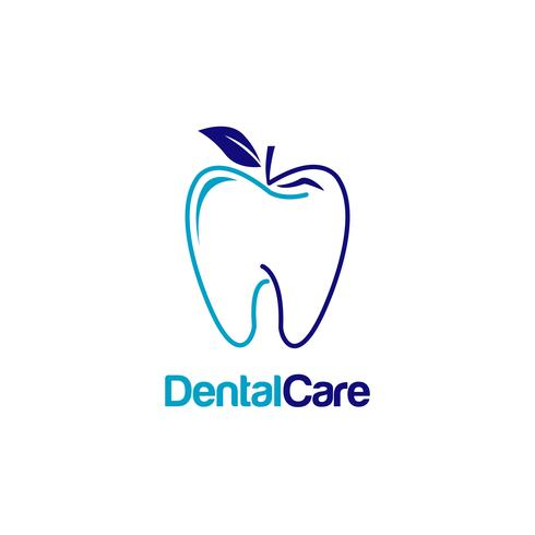 Dental Tooth With Apple Shape Logo