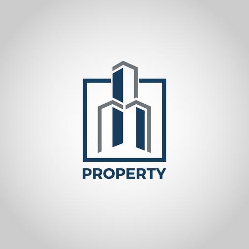Logo das propriedades vetor