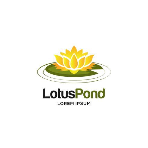 Logotipo de flor de lótus vetor