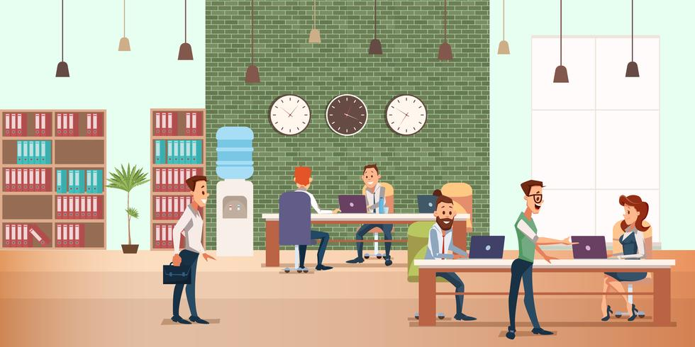 Reunión de negocios en la oficina creativa vector