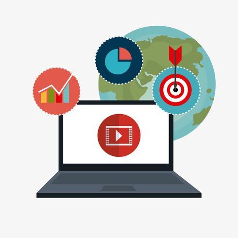 Marketing digitale e sociale vettore