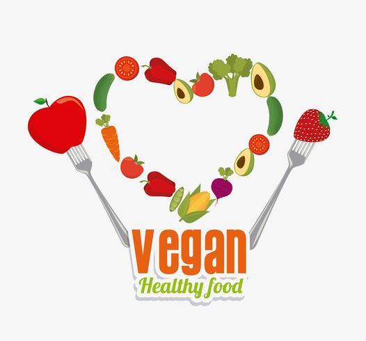 Conception de la nourriture végétalienne.