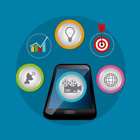 Estrategias de marketing digital y social. vector