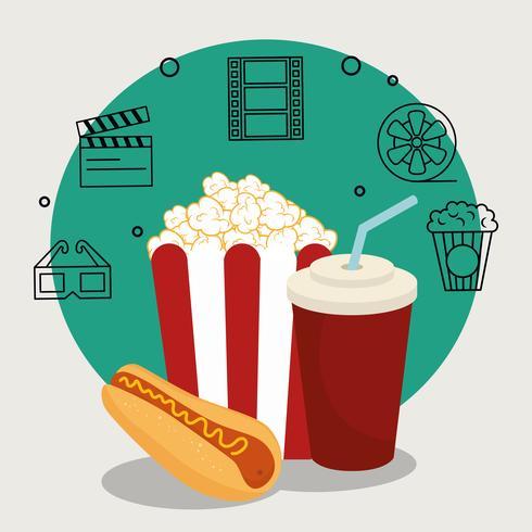 Comida de cinema vetor