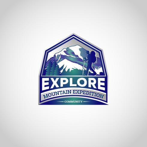 Logotipo de exploración de la montaña