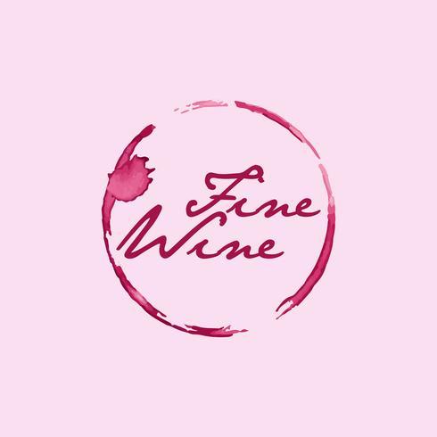 Mancha de vinho fino vetor