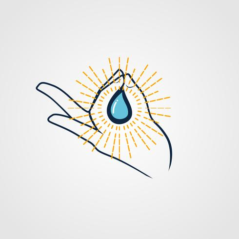 Holy Water-logo vector