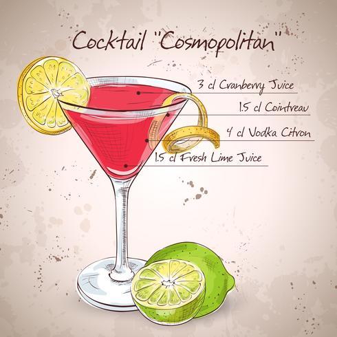 Red Cosmopolitan Cocktail