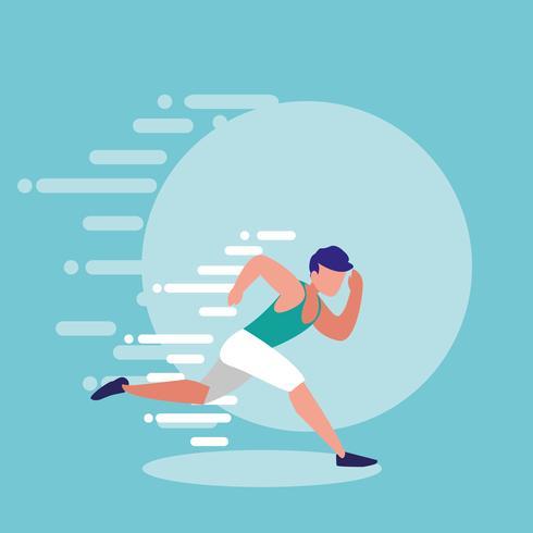 Mann Athlet läuft Avatar Charakter