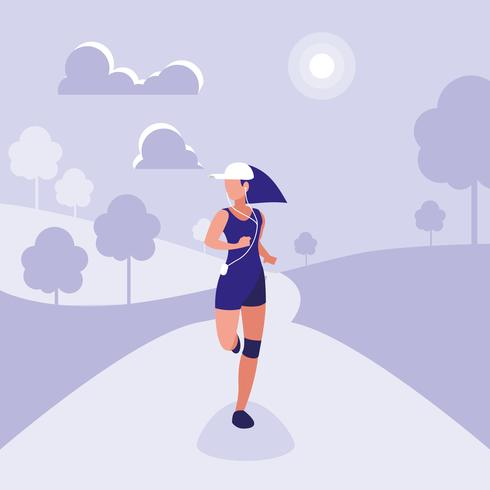 woman athlete running avatar character