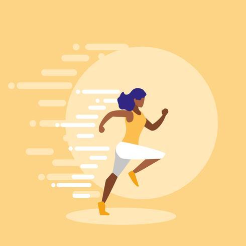 woman athlete running avatar character