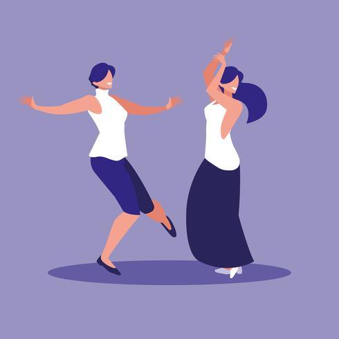 kvinnor dansar avatar karaktär