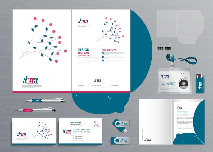 Zakelijk ontwerp map folder sjabloon voor digitale technologiebedrijf vector