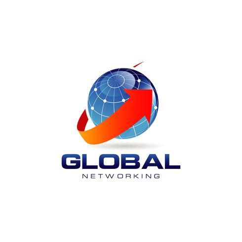 blå global nätverkslogotyp