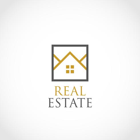 Huizen in Square Outline Real Estate-logo