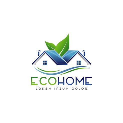 Logotipo de Eco Home vector