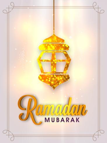 Broschyr, banner eller reklamblad för Ramadan Mubarak.