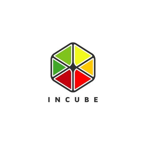 Logo de cube coloré
