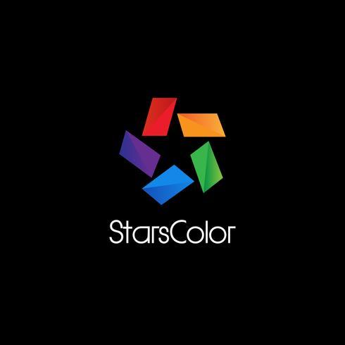 Färgglada negativa Space Star-logotypen