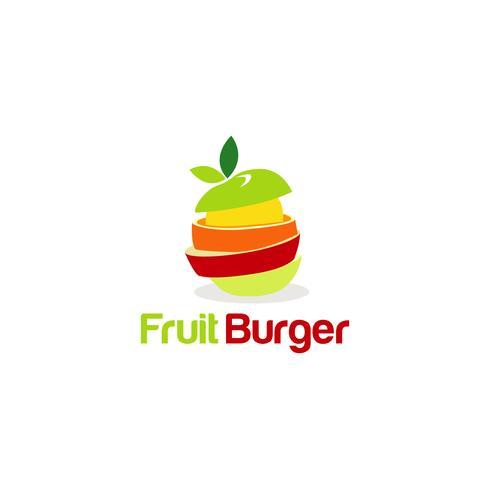 logo créatif de burger aux fruits