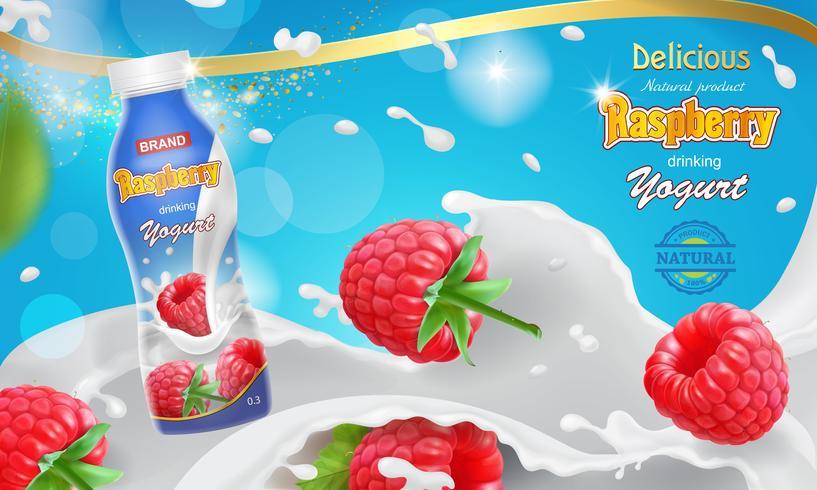Hallon yoghurt stänk