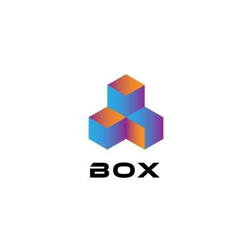 Dreifaches Würfel-Logo