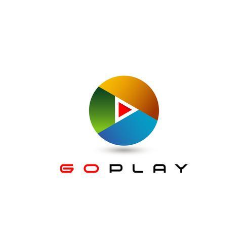 logotipo de media circular play