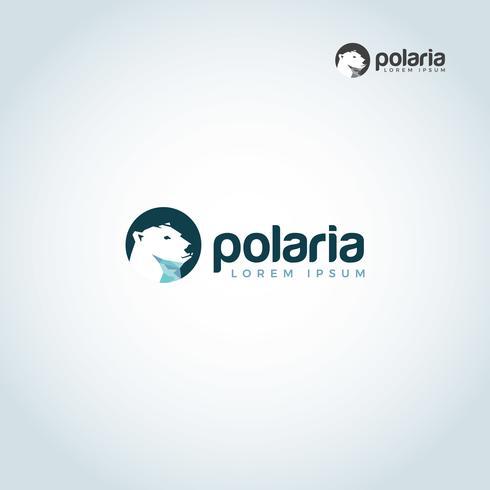 Logo della testa dell'orso polare