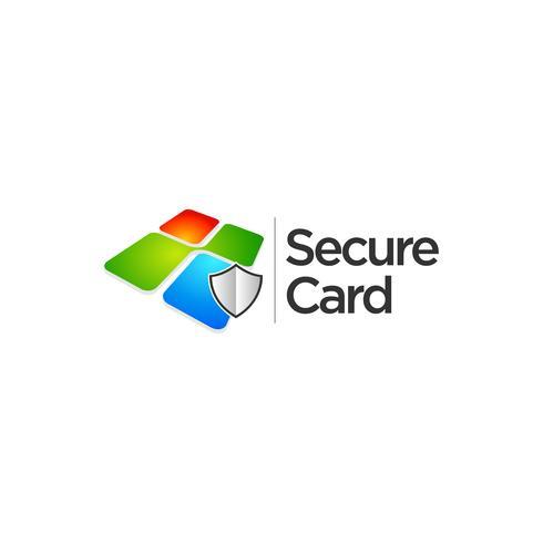 Färgglada Square Secure Data Logo