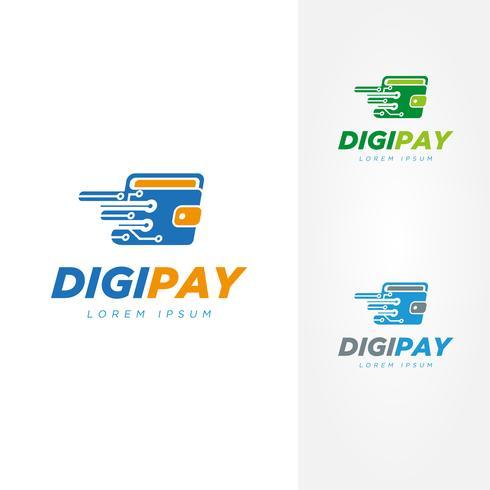 Färgglada Digital Wallet Logo Pack