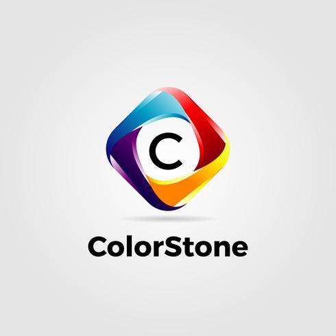 Logotipo quadrado colorido