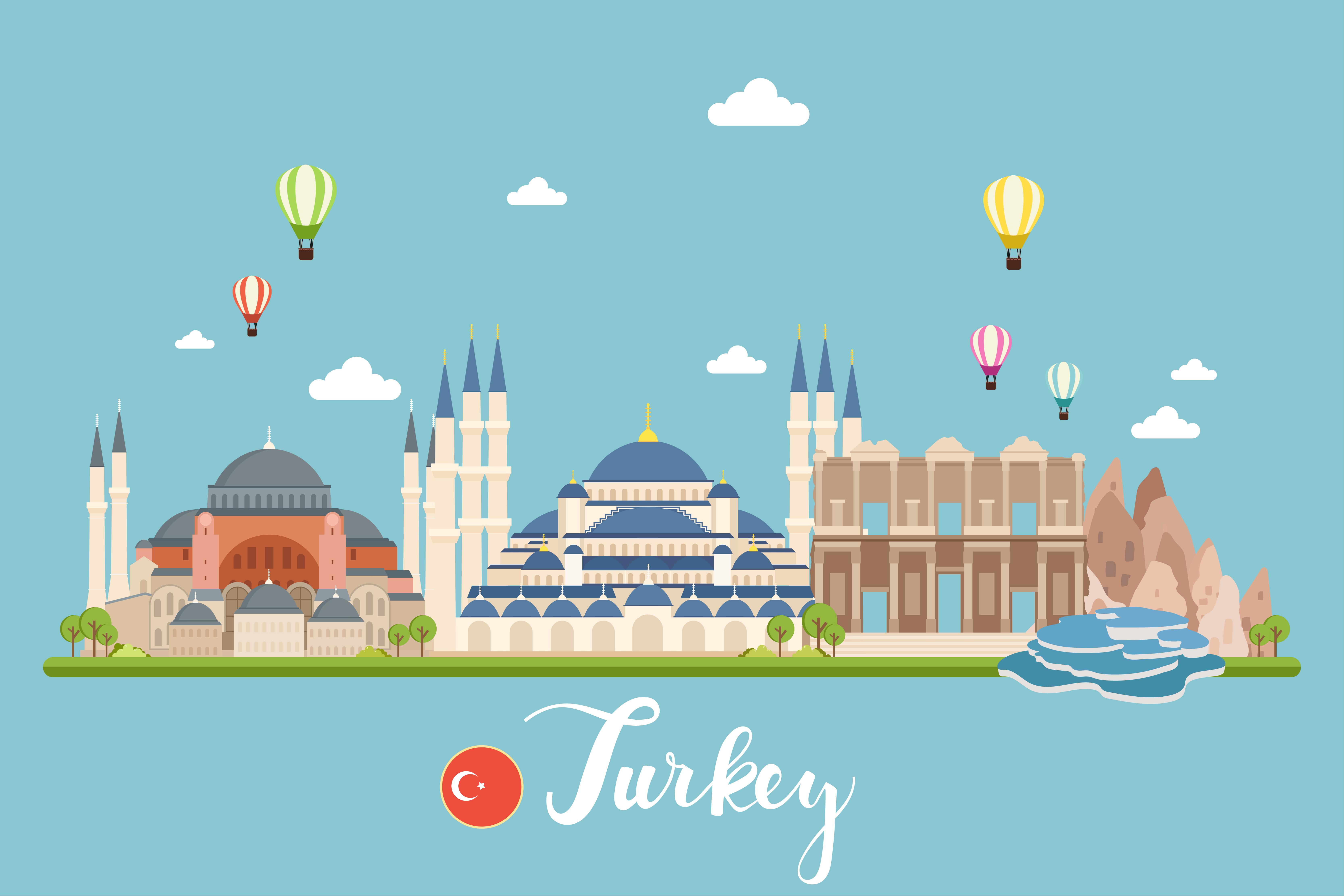 Turkey Travel Landscape - Download Free Vectors, Clipart ...
