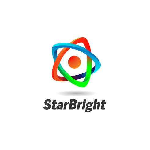 Abstract Star Looping Logo