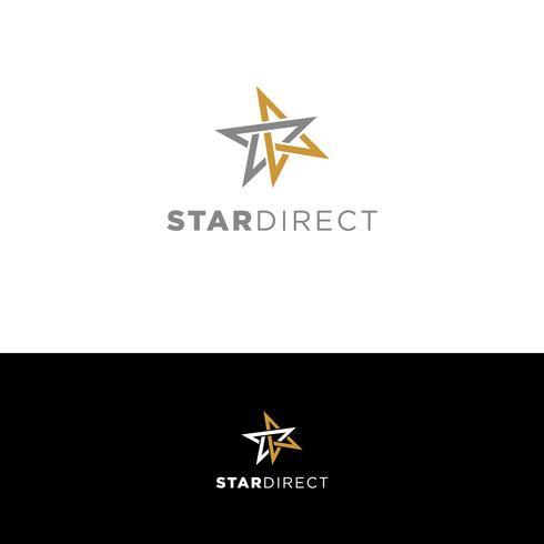 Enkel interlocked Star-logotyp