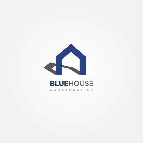 Enkel blå huslogotyp