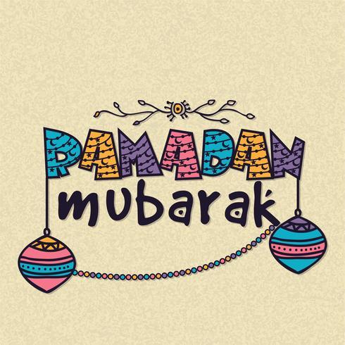 Gratulationskort för Ramadan Mubarak-firande.