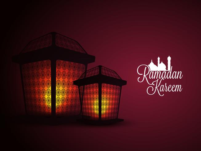 Upplysta lampor för Ramadan Kareem.