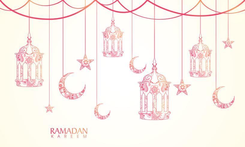 Wenskaart voor Ramadan Kareem-viering.
