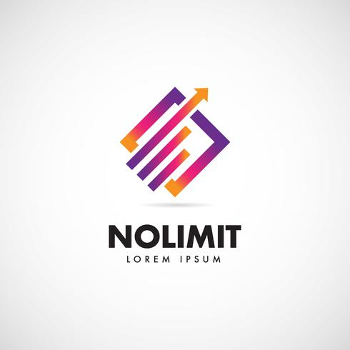 Colorful Graphical Increase Logo vector