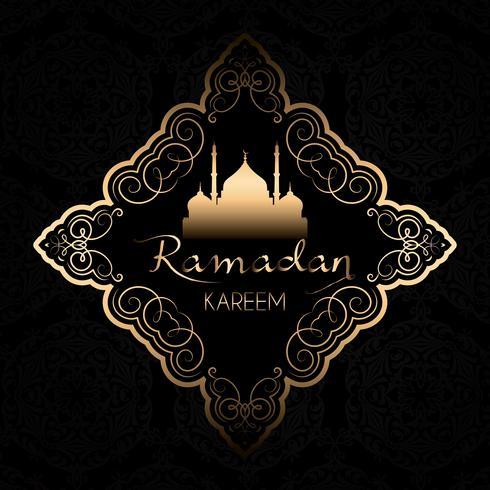 Elegant Ramadan Kareem-bakgrund