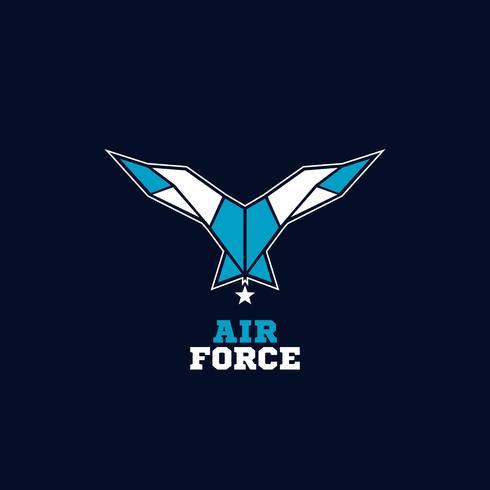 Logotipo de alas de la fuerza aérea