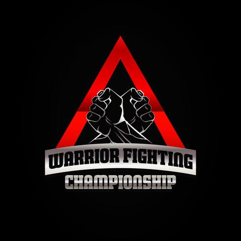 Dois Punhos no Triângulo Lutando Logo