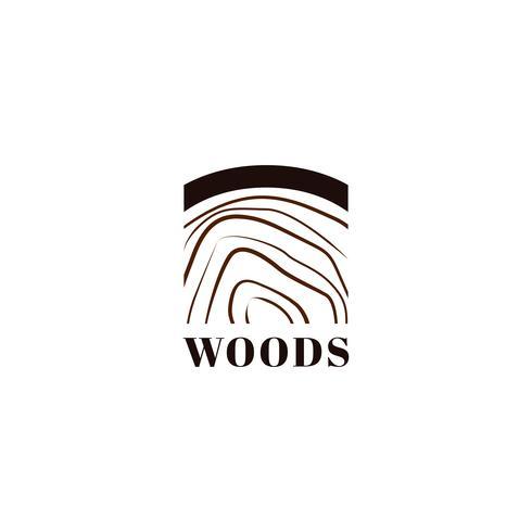 Logo di stampa tronco d'albero in legno