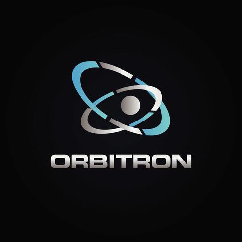 Logotipo de órbita metálica vector