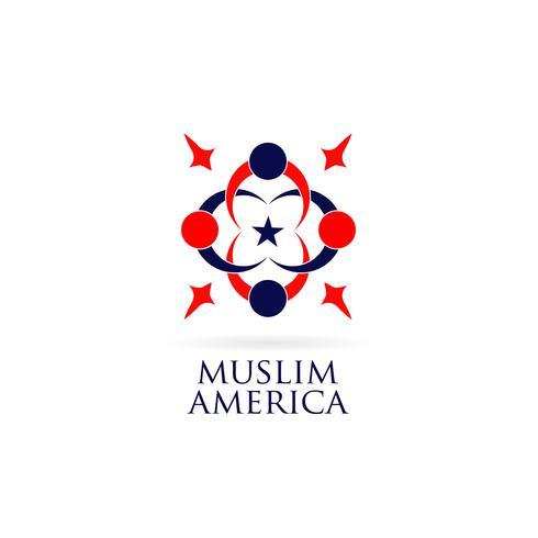amerikan muslimsk logotypdesign