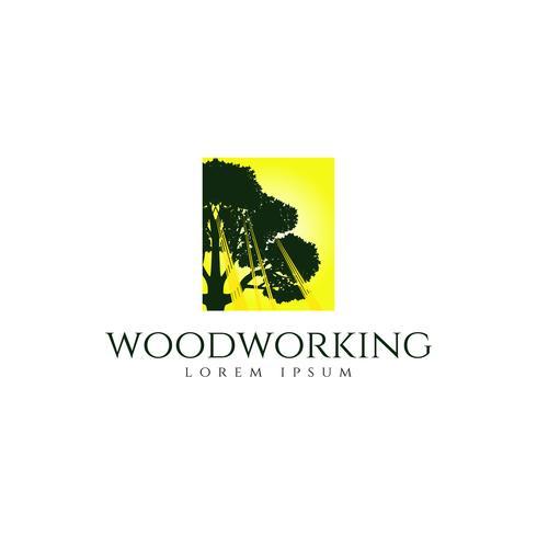 Logo di lavorazione del legno dell'albero