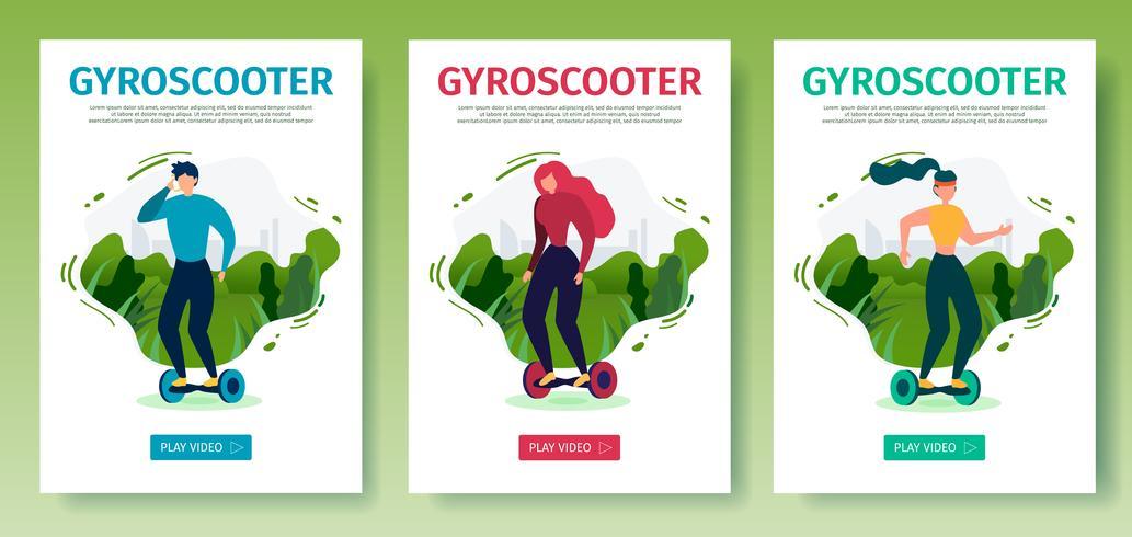 Mobil målsidesset erbjuder ridning av gyroscooter