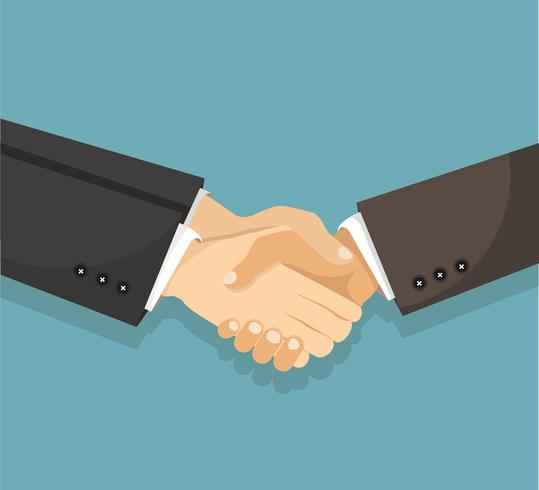 businessman shaking hands agreement vector