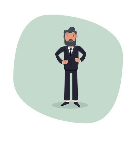 Personaggio dei cartoni animati di uomo d'affari